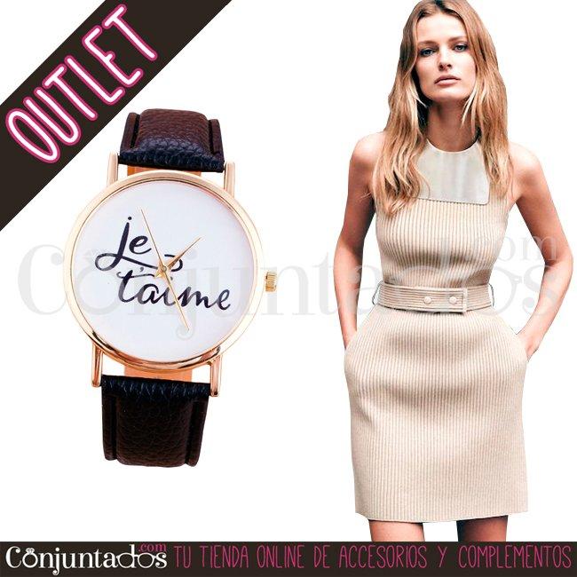 .#Reloj Je T&#39;aime ★ 7&#39;95 € en  https:// goo.gl/knKZaj  &nbsp;   ★  #outlet #liquidacion #descuento #soldes #sales #watch #watches<br>http://pic.twitter.com/d8YBJXkZm1