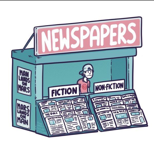 Panique dans les kiosques à journaux! News, #Fakenews Fiction, Non-Fiction: #Trump et Poutine ont mis la #presse à l&#39;heure de la Post-Vérité <br>http://pic.twitter.com/d2Yi9ux8wQ