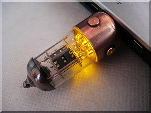 #Geek Awesome of the Day: #Steampunk 64GB Orange Pentode Radio Tube #USB Flash Drive via @joshuaswifter1 #SamaGeek