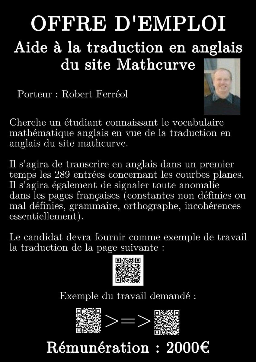 Recherche #étudiants @MathRixP7 pr corriger et traduire en #anglais un site de #maths - 2000€ à la clef cc @SAOIP7  http:// reseaupro.univ-paris-diderot.fr/index.php/offr es/show/id_offre/171723/frmGrp/183/actionFrom/rechercheBloc &nbsp; … <br>http://pic.twitter.com/mGrrJUfZcy