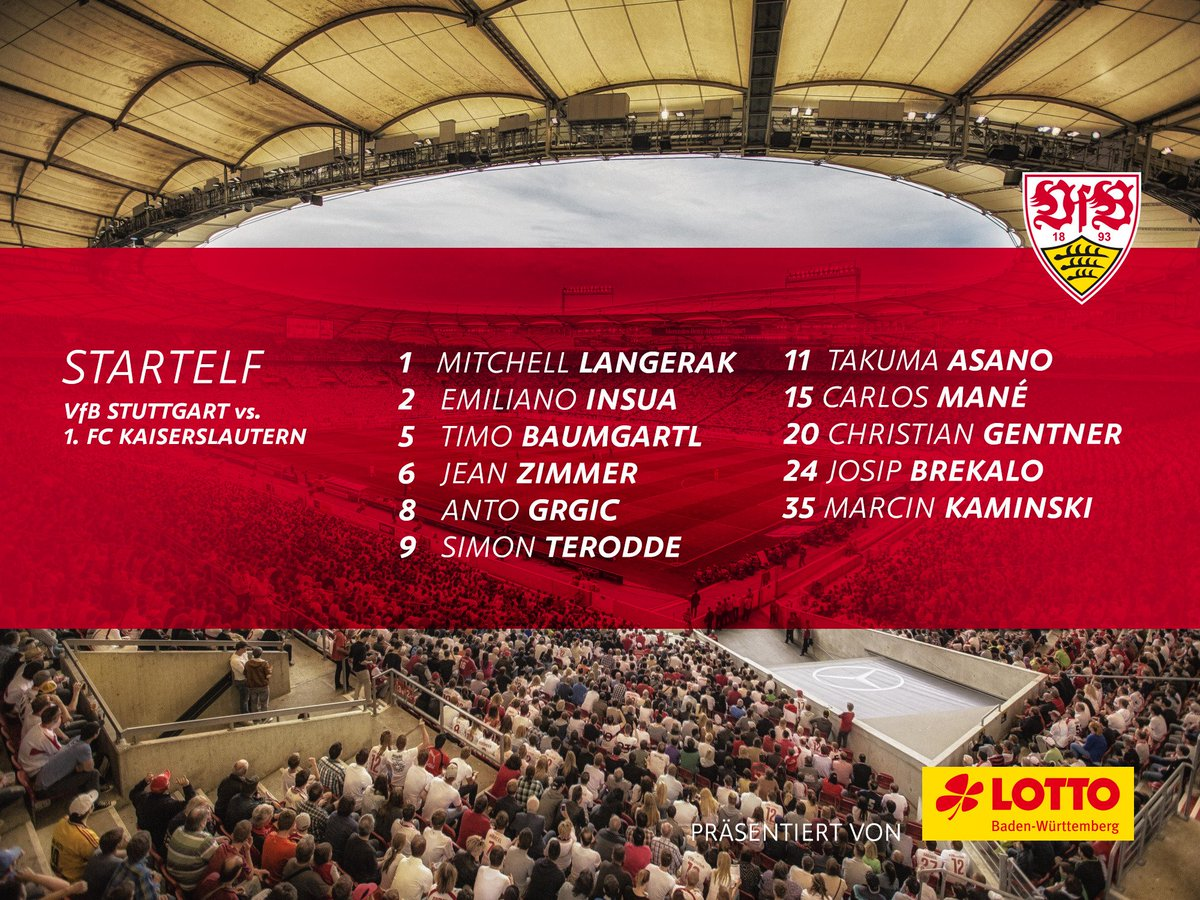 Unsere 11 gegen die @Rote_Teufel! #VfBFCK https://t.co/ffW5XKCX4z