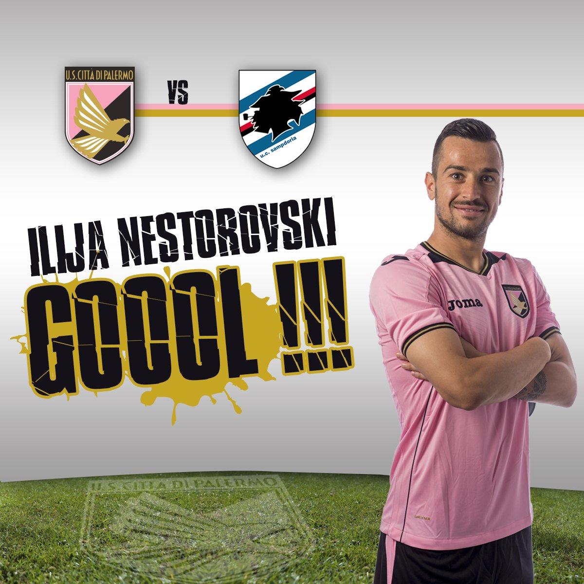 #PalermoSamp 1-0, 31': rigore perfetto di Nestorovski che spiazza Vivi...