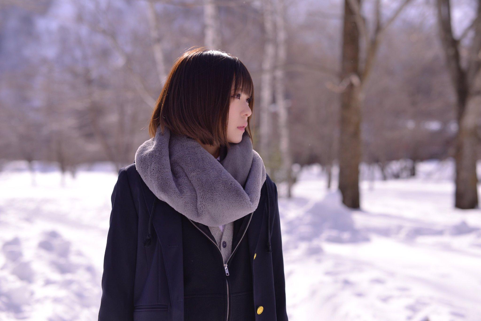 今年的第一場初雪,可以玩雪真高興 #制服美少女 #瀏海》#Cute #Girl #Pretty #Girls #漂亮 #可愛
