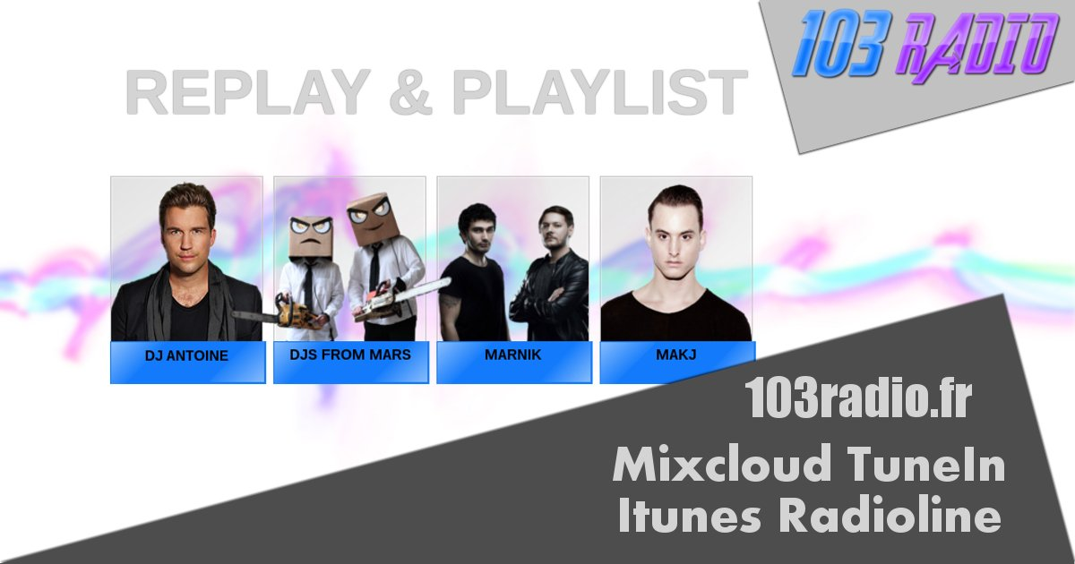 Replay 103 Klubb dispo dès maintenant :) #mix #dj #clubbing #edm #electro #house #club #podcast #replay<br>http://pic.twitter.com/rqMYjZiPWu