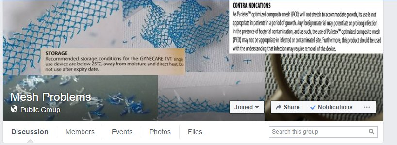 #VIIPS17 #USANZ17 Our public FB group has 2,000 members, most injured by #mesh implants. Physicians welcome-read our stories, learn from us. <br>http://pic.twitter.com/emSvaPbJK7