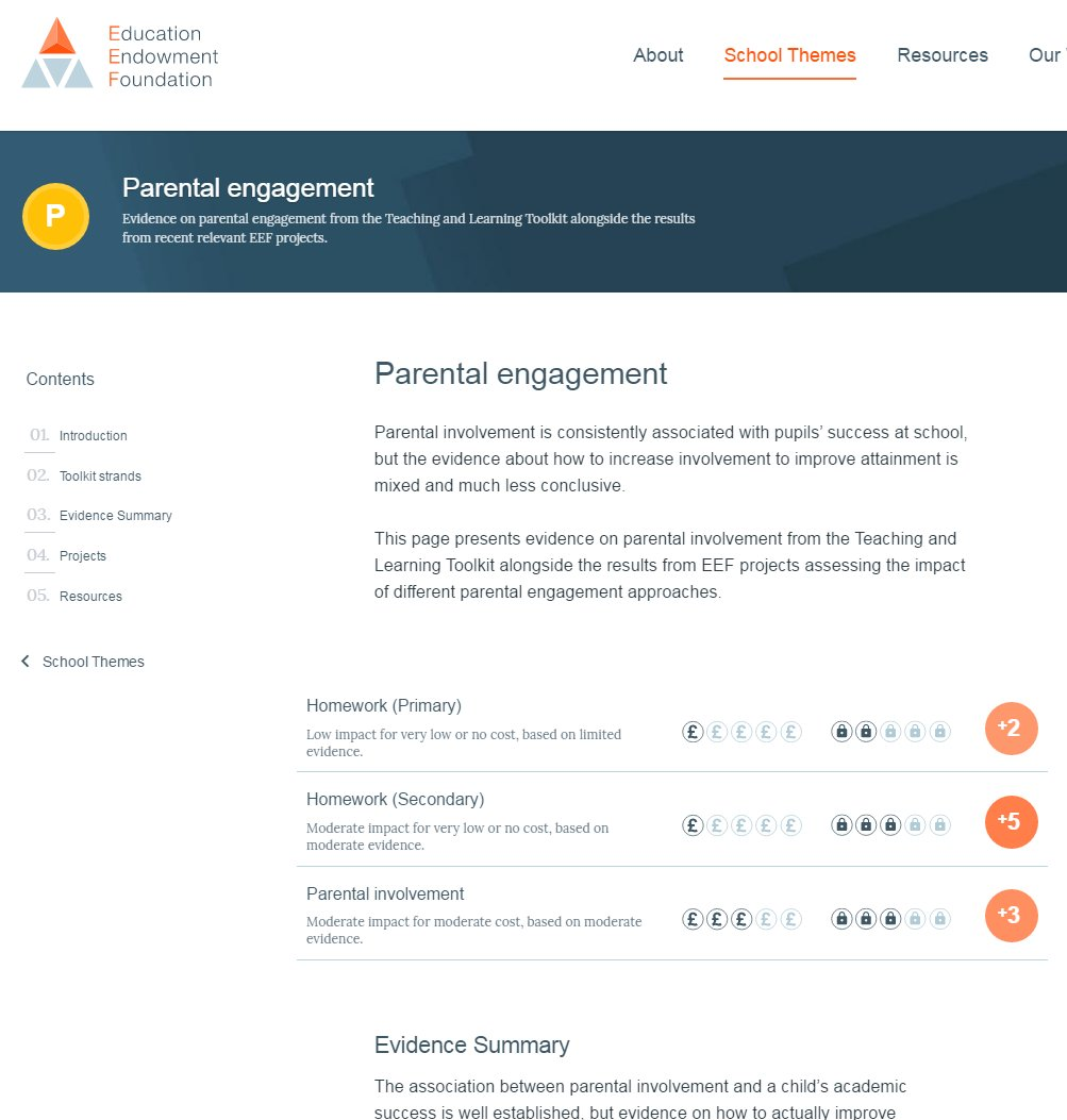 PARENTAL ENGAGEMENT: this school theme brings together evidence from our Toolkit with results of EEF-funded projects https://t.co/xNDicVpDBh https://t.co/kBSNqoBeBb
