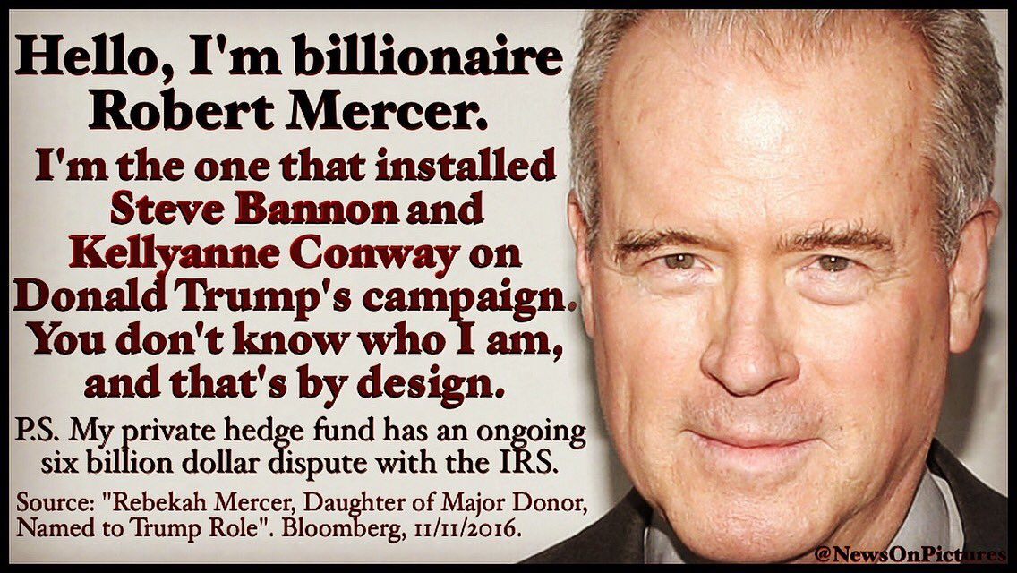 Image result for robert mercer quotes