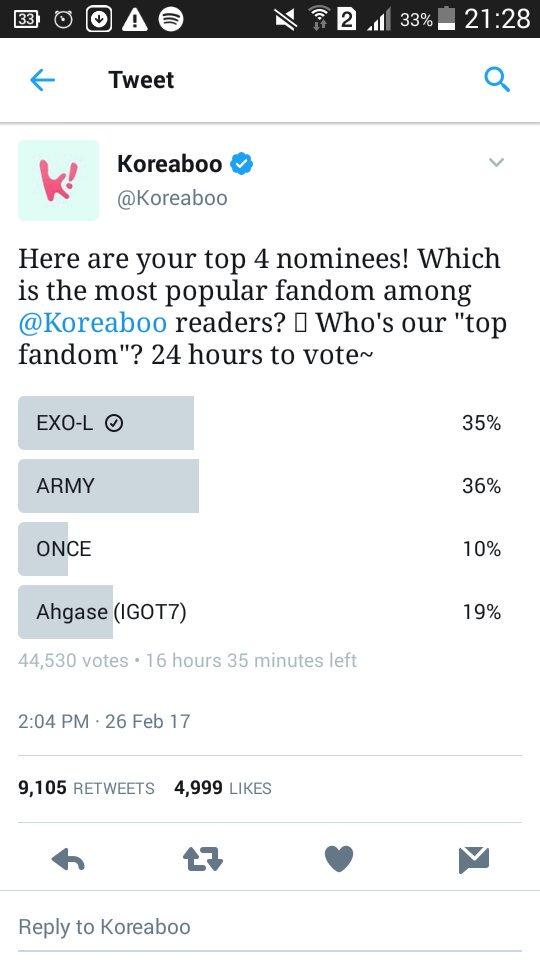 EXO-Ls LET&#39;S VOTE!!!!! #EXO #EXOL <br>http://pic.twitter.com/cRn8V1xRK0