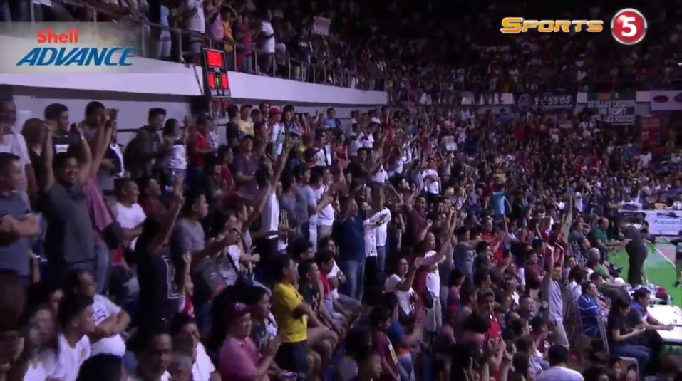 #NSD fans are going bananas! #PBAFinals https://t.co/HFRtcjbrhr
