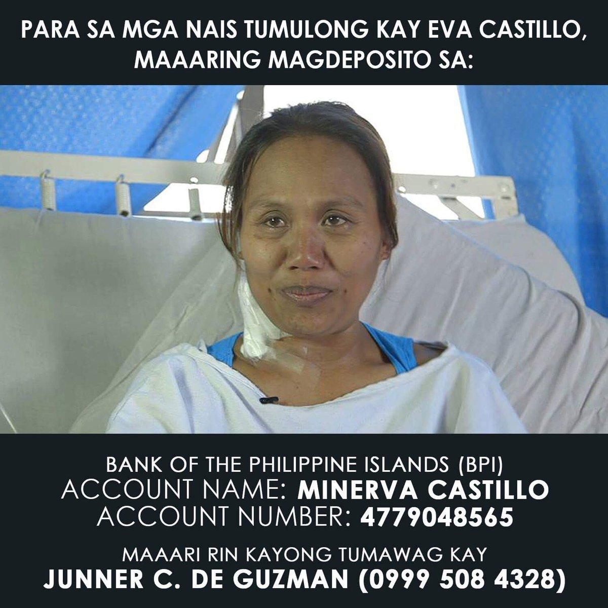 Para po sa mga nais magpahatid ng tulong kay Eva Castillo, basahin ang...