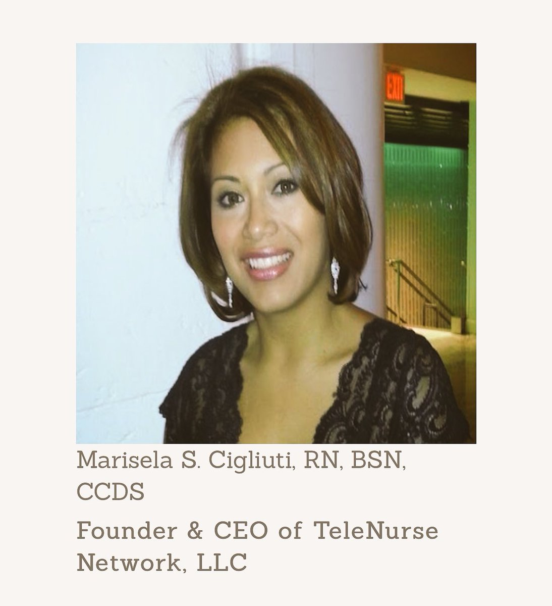 Thrilled to have Marisela Cigliuti #RN, #Nurse #Entrepreneur &amp; #CEO of @TeleNurse_Net as one of #mentors at the #Healthcare #hackathon!<br>http://pic.twitter.com/h5ykxSEENX