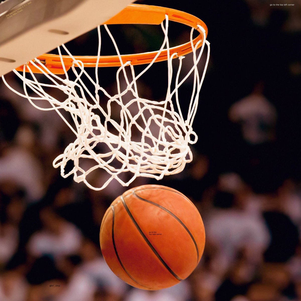 ZOOM IN ON THE BASKETBALL...