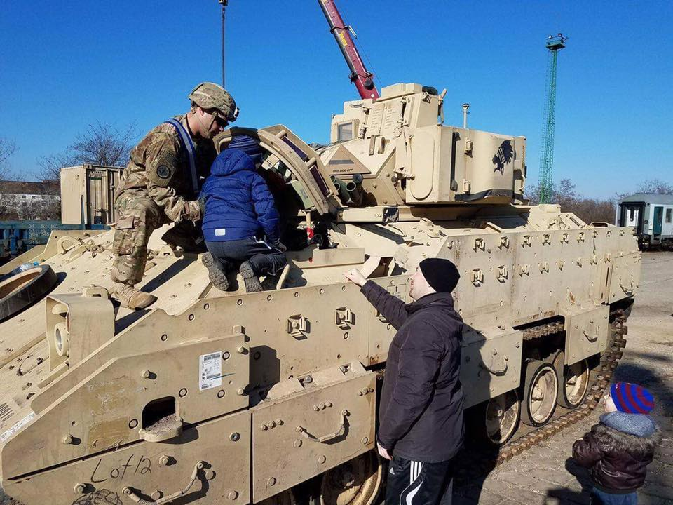 Troop A, 4-10 CAV is now operating in Hungary under AtlanticResolve after its equipment arrived Saturday. Soldiers met the locals too