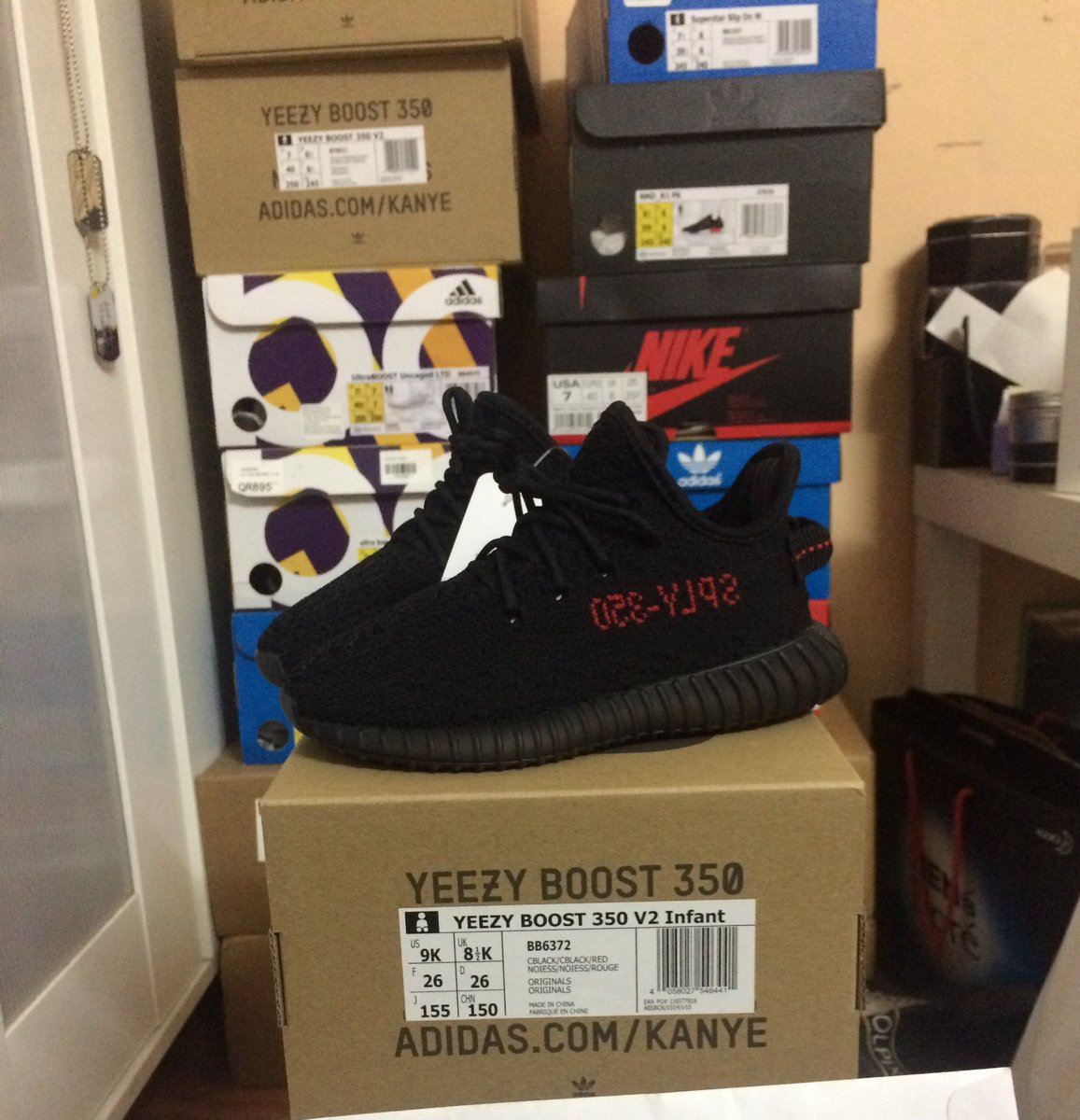 11bd86c3705dc New WONDERFUL VERSION UA Cheap Yeezy 350 Boost V2 Bred SPLY