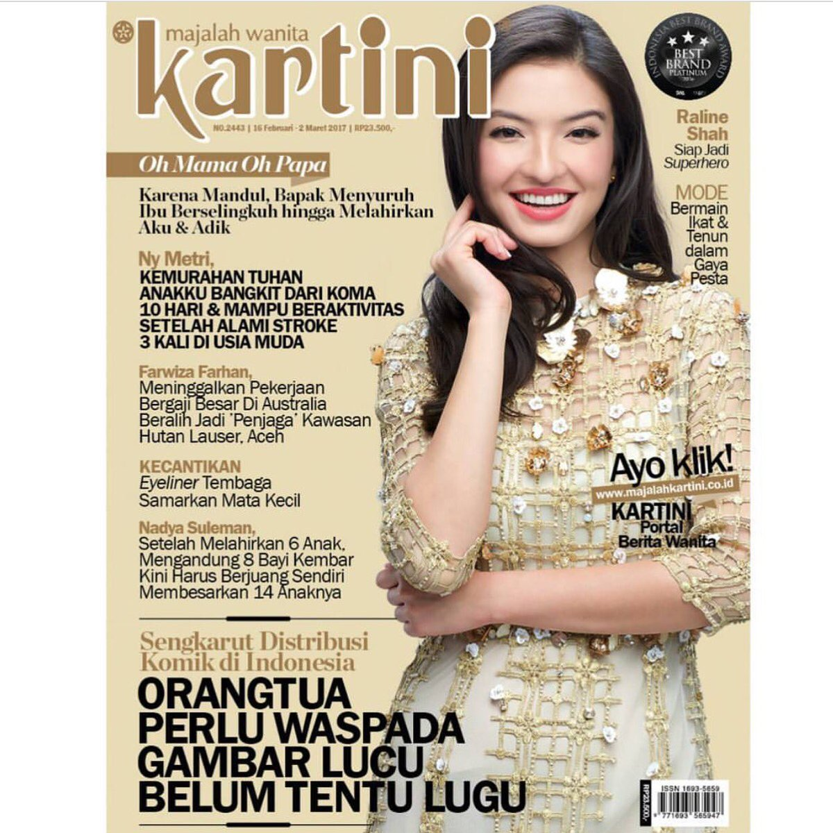 Out now! Iconic Indonesian women's magazine since the 70's! @MajalahKartini ❤