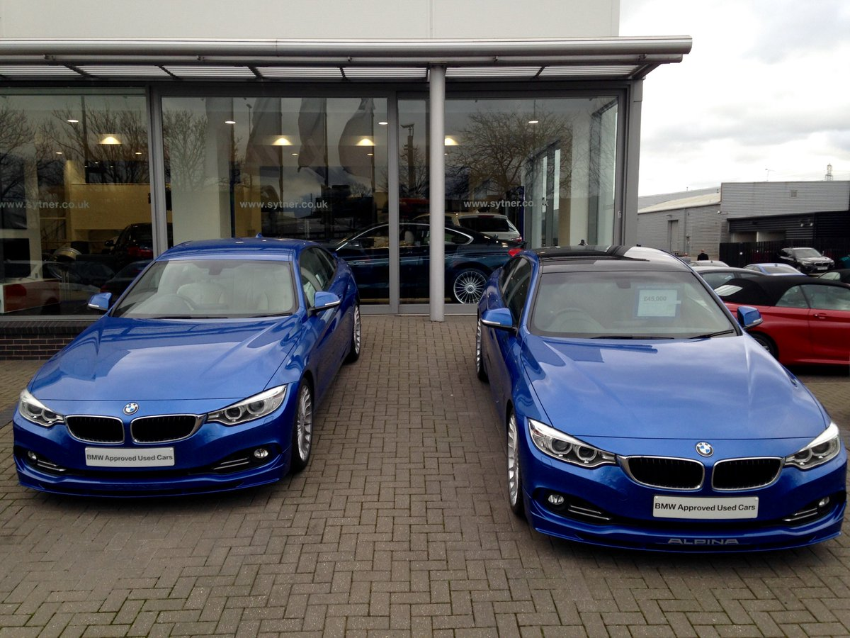 Bmw Alpina Gb On Twitter Two Takes On An Estoril Blue Alpina D4 20 Wheels With Black Leather And Black Roof On One 19 S With Cashmere Merino On The Other Https T Co L7ekusnvsj