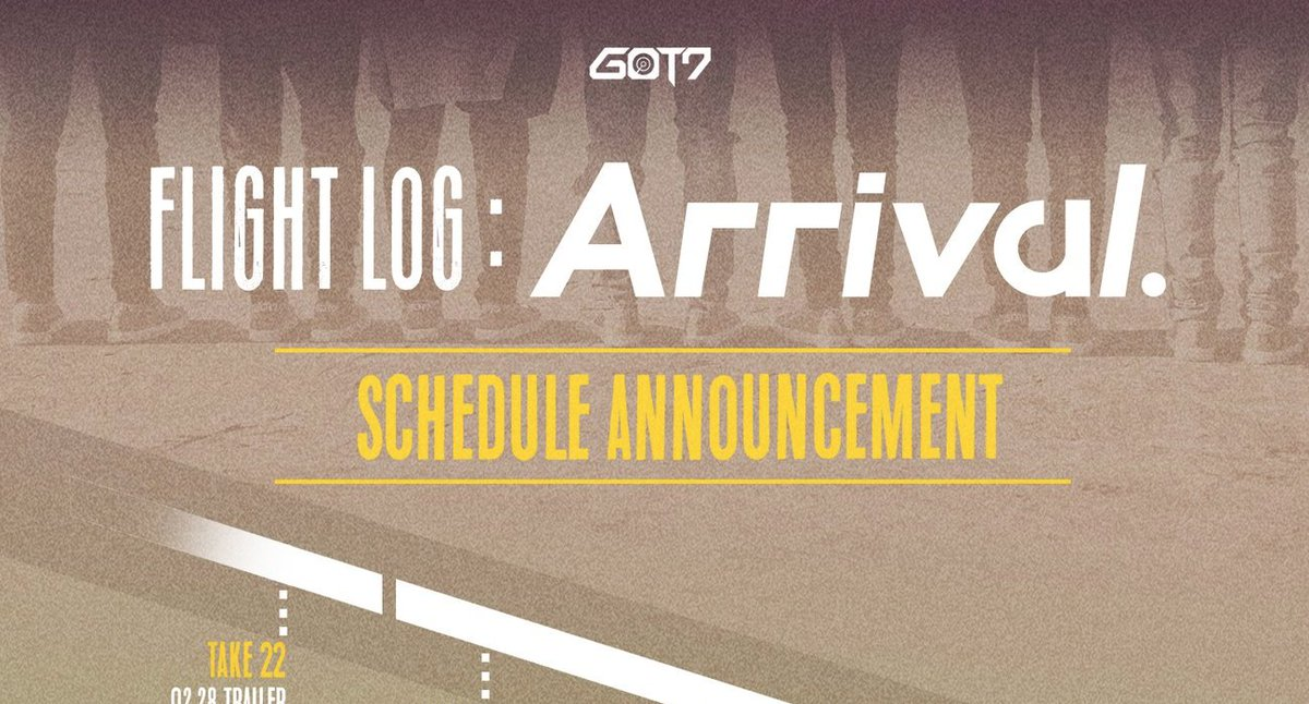#GOT7 reveal the release schedule for 'Flight Log: Arrival' https://t....