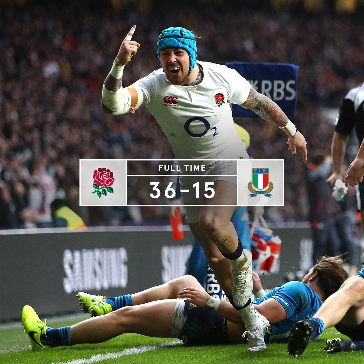 It's FT at Twickenham and England have secured a bonus point win again...