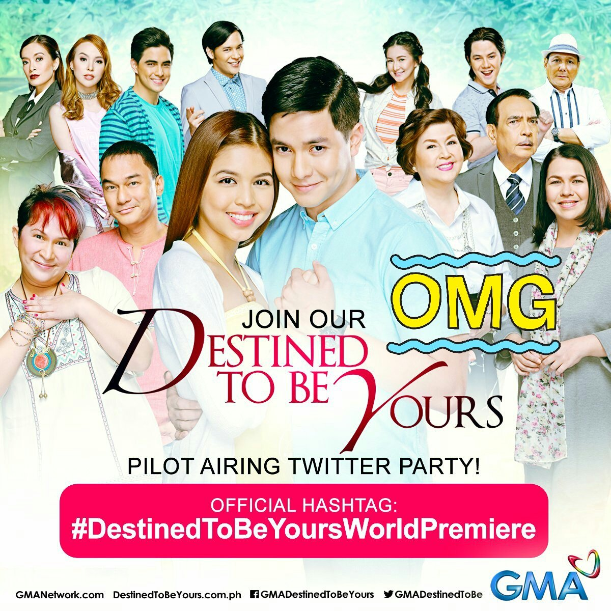 Let us see our destiny tonight at @GMADestinedToBe with Sinag &amp;Benjie.  #TeamAbroad  #DestinedToBeYoursWorldPremiere  #Almaine <br>http://pic.twitter.com/6MQMzUfbOk