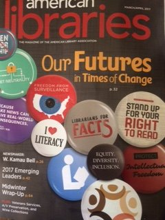 "Perfect timing for 2.28.17 #txlchat Our Future of School Libraries topic matches newest ALA journal cover. ""See"" u on Tues at 8:00pm https://t.co/RlHSRLg1aK"