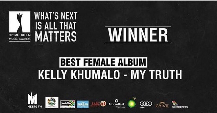 Couldn't have gone to any other winner. Congrats @KellyKhumaloZA #Well...