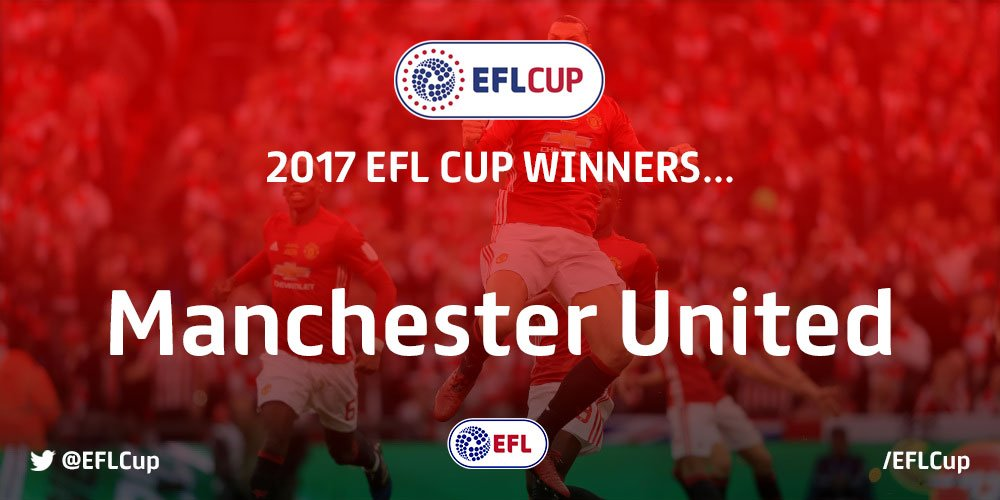 #EFLCupFinal winners 2017!  Congratulations, @ManUtd! 🔴🏆👏 https://t.co...