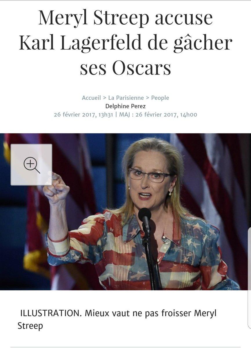 Tiens, Meryl #Streep accuse Karl #Lagerfeld de gâcher ses #Oscars  ...  http:// l.leparisien.fr/s/oLWD  &nbsp;   via @LaParisienne<br>http://pic.twitter.com/omXfYUZuUZ