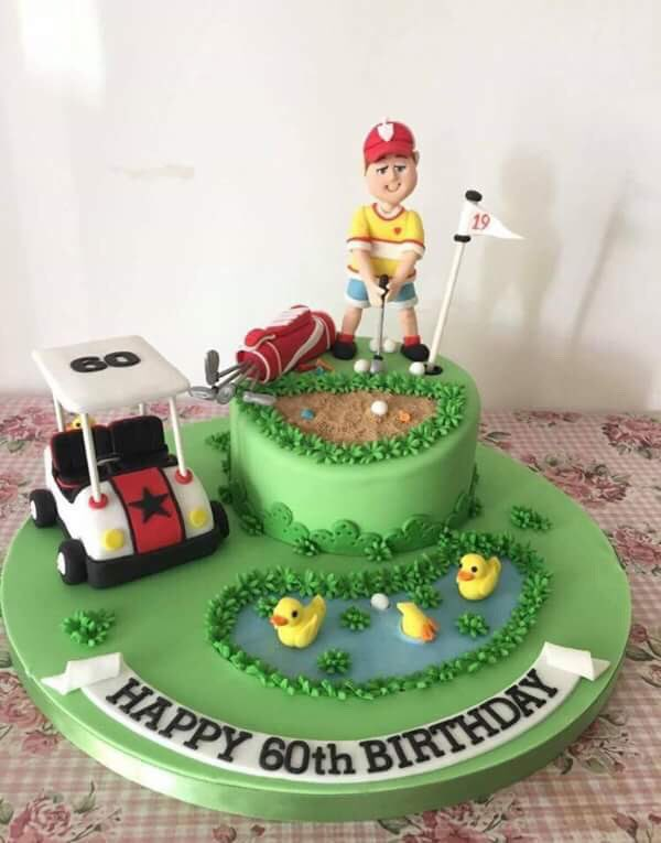 Cakecetra Tearoom On Twitter Golf Themed Birthday Cake Complete