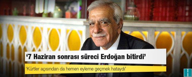 Ahmet Türk: 7 Haziran sonrası süreci Erdoğan bitirdi  https://t.co/hM7...