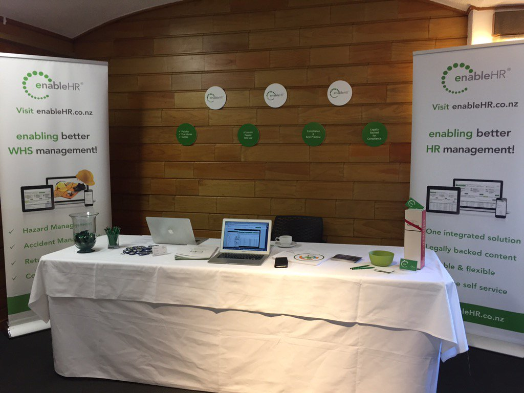 Set up is underway here at the #HRAConf17 in Auckland!! #futureofwork #insight #collaboration #enableHR #NZHR https://t.co/ovW2DI72LG