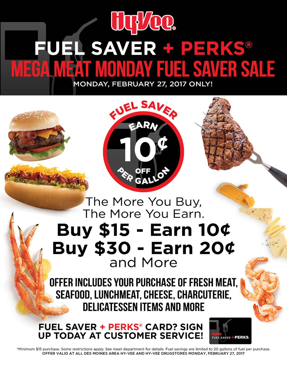 Mega Meat Monday is back! For every $15 spent in the Meat Dept.  earn...