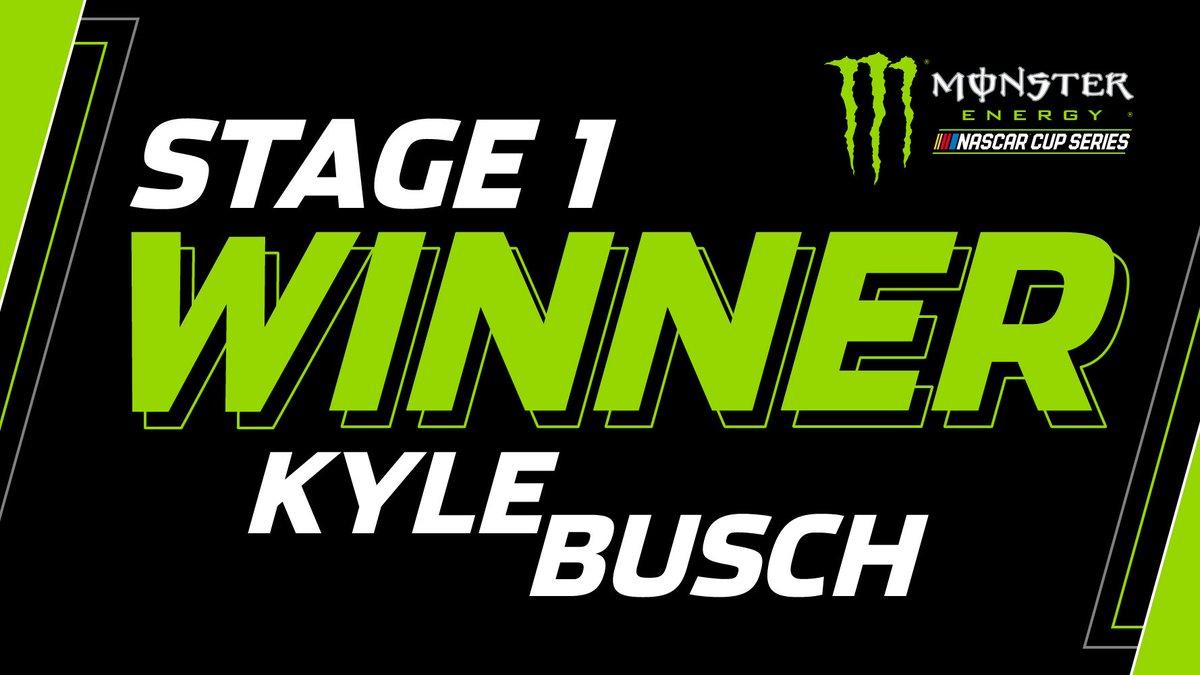 STAGE 1 WINNER: @KyleBusch!  #DAYTONA500 https://t.co/nB9KePx7mf