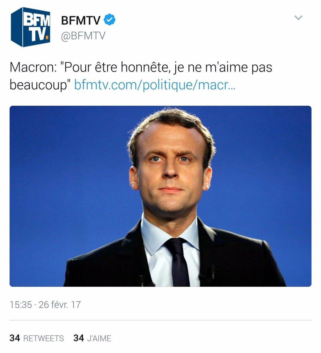 Pour etre honnête, on ne t&#39;aime pas non plus. #Macron <br>http://pic.twitter.com/HETOsLxw6c