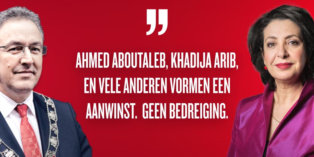 Burgemeester Aboutaleb, Khadija Arib zijn geen bedreiging voor onze sa...