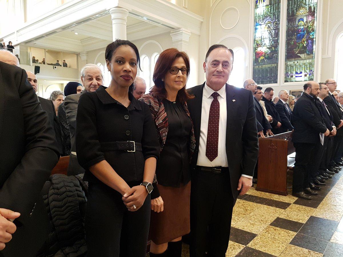 Bel accueil lors de la Cérémonie à l'Église Melikite avec le député @F_ElKhoury. Merci pour les belles discussions. #PLC <br>http://pic.twitter.com/wcVWc8tao3
