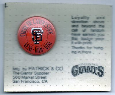 #MLB #Baseball San Francisco #Giants CROIX De CANDLESTICK Souvenir Pin Button Badge Sealed MINT!  http:// dlvr.it/NTp4Wn  &nbsp;   #Sporting #Goods<br>http://pic.twitter.com/FMFMzH4ZIU