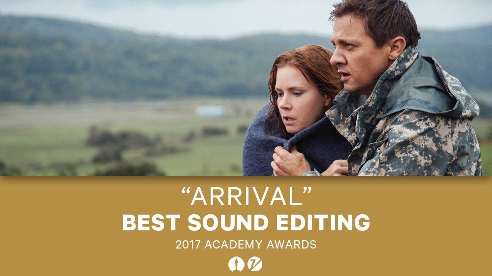 #Oscars: 'Arrival' wins best sound editing https://t.co/AJ2ZXLGjn2 htt...