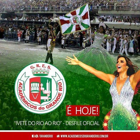 Ei, psiu. @ivetesangalo é #GrandeRio! Vem aí a escola do nosso coração...