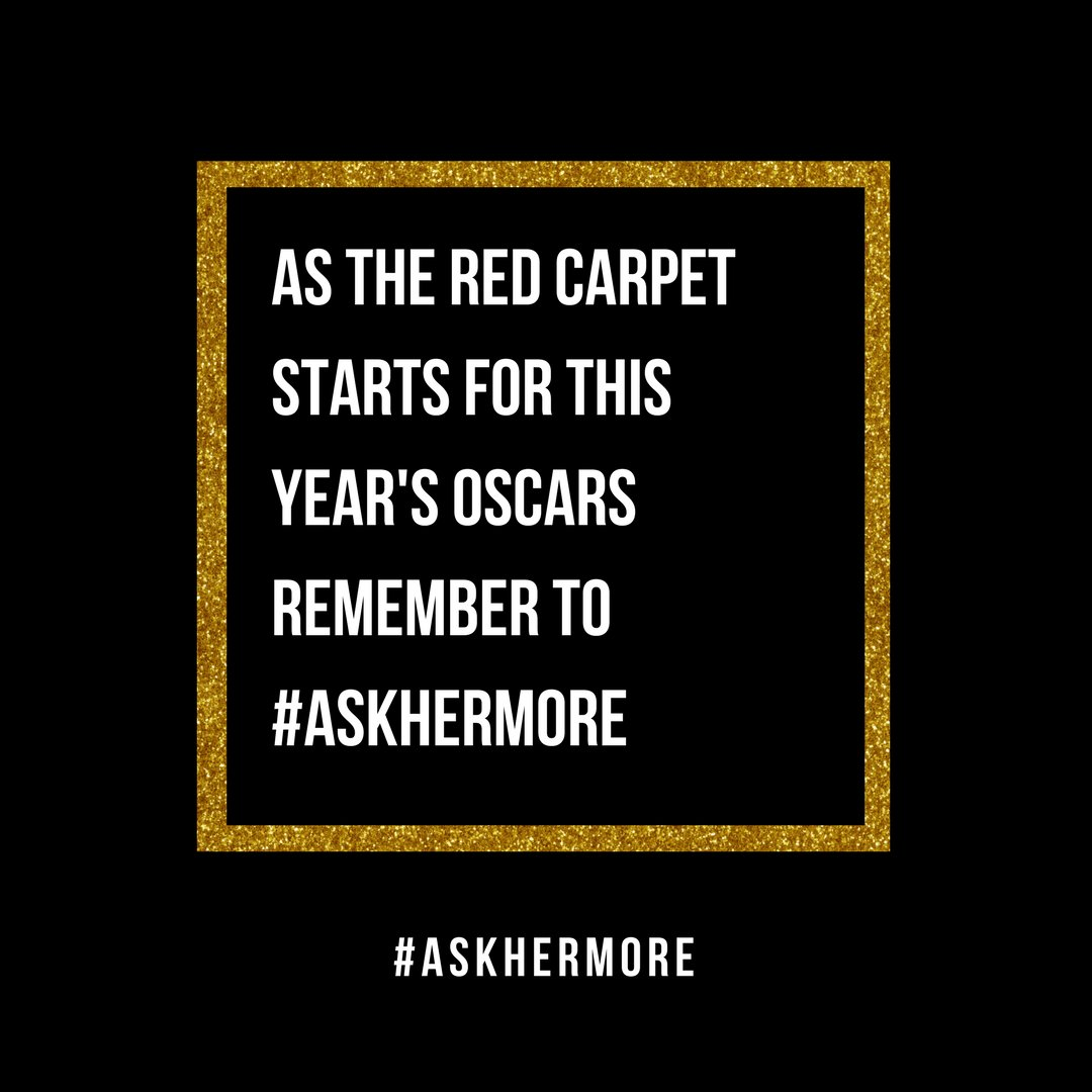 #Oscars Red Carpet Interviewers: When you only ask superficial questions, we all miss out on important stories. #AskHerMore https://t.co/xDaMVia0Sy