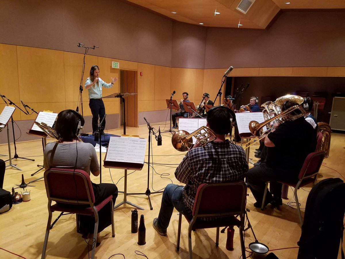 The Ship of Theseus recording sessions, day two: brass, w/ guess conductor/composer Bill Novak  #Orchestra #rockmusic #musicians<br>http://pic.twitter.com/CQTDrzIce9