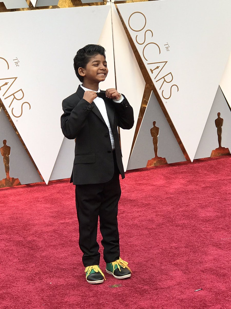 Sunny Pawar is too cute for words. #Oscars @LionMovie https://t.co/UgXqEZEWPY