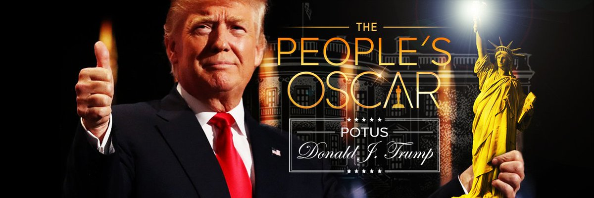 8PM ET Twitter Rally TURN YOUR TV OFF We have THE WINNER #Oscars 2017 BEST @POTUS @realDonaldTrump &quot;FREE BANNER GIFT&quot; #WinnerIsDJT #MAGA <br>http://pic.twitter.com/wwP0W4GYrC
