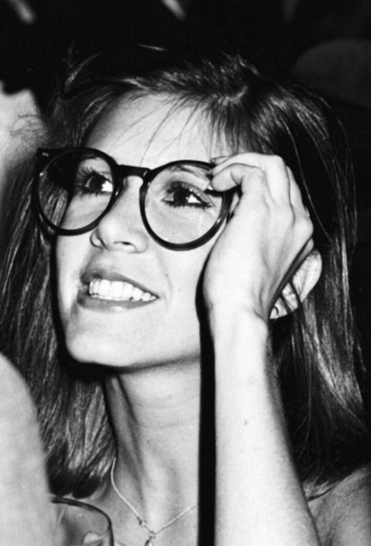 &quot;Do these glasses make me look cute?&quot;..... &quot;Carrie, you could wear a suit of armor and you&#39;d raise my temperature no end !!&quot; #CarrieFisher <br>http://pic.twitter.com/3CKBzmV2Xu