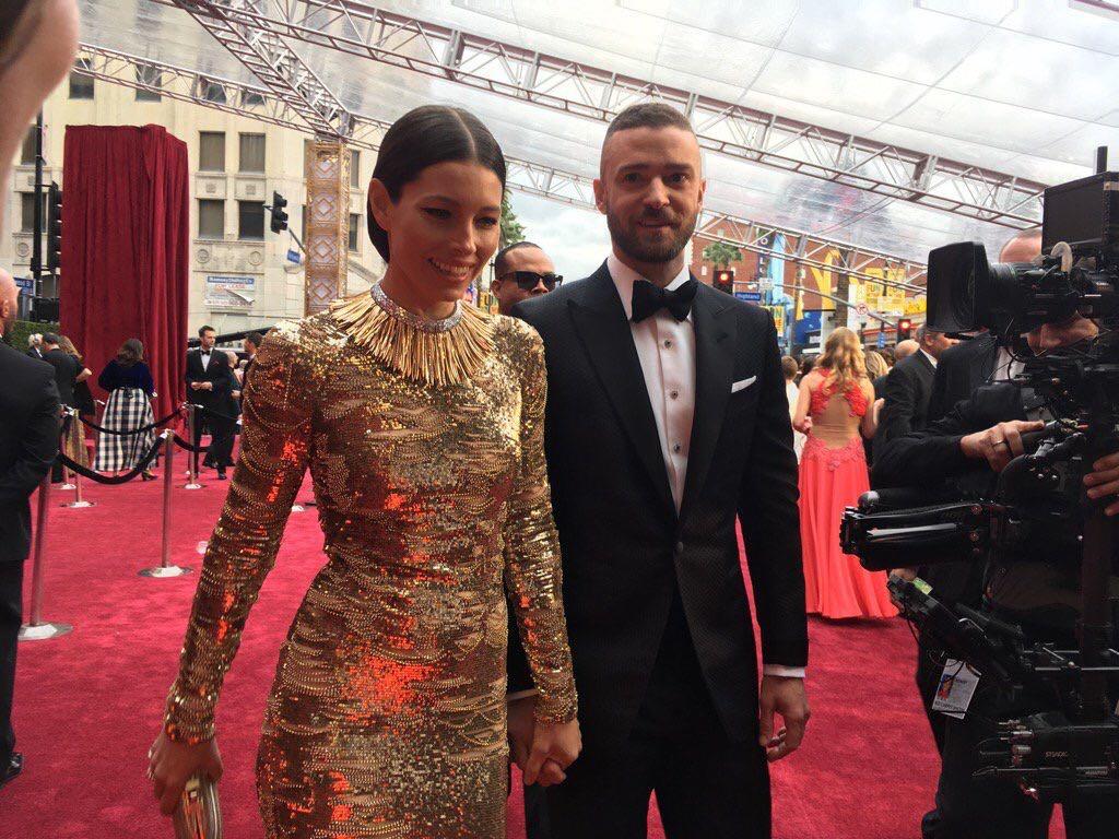 Justin Timberlake no tapete vermelho (Oscar 2017)