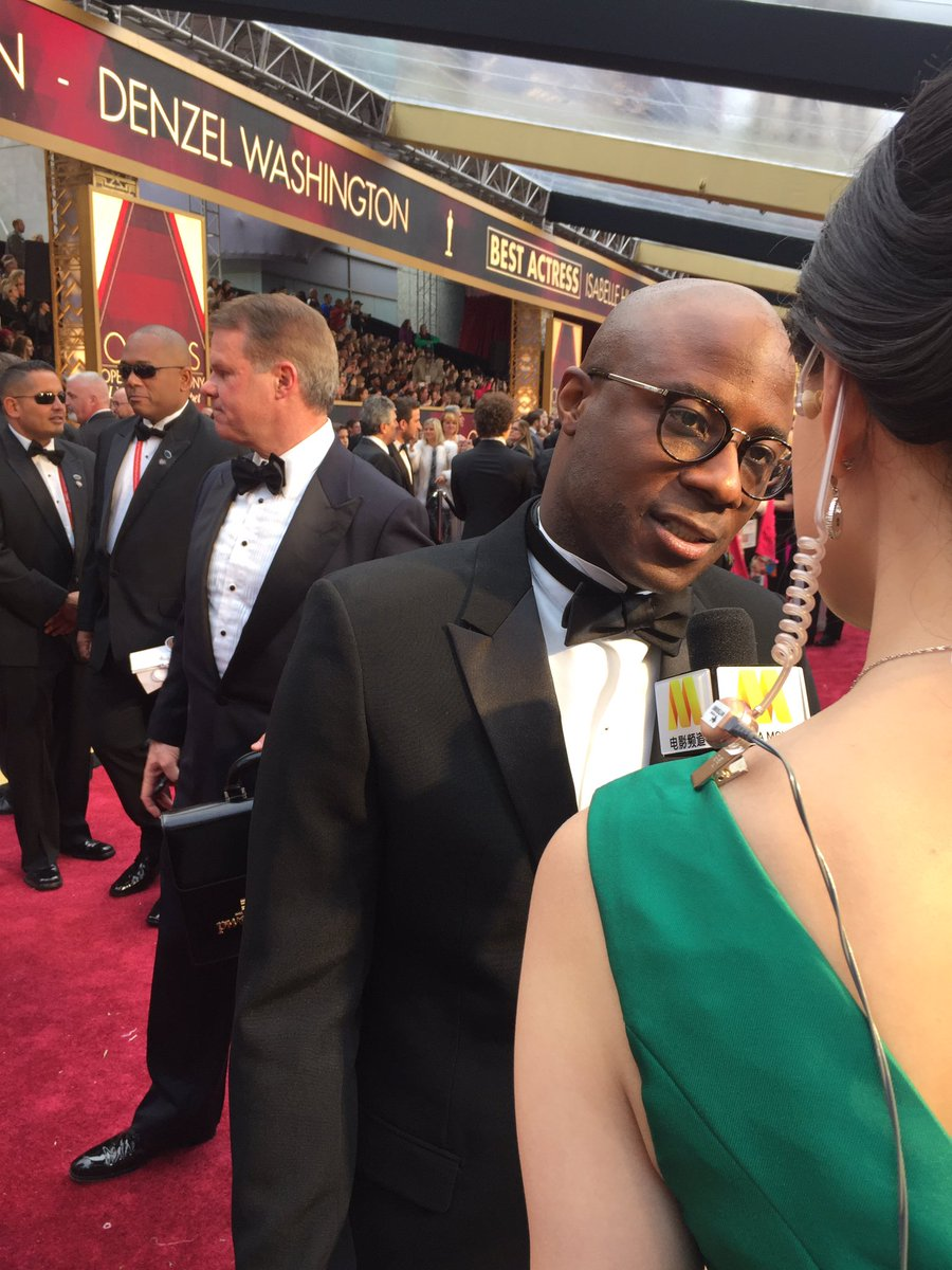 Barry Jenkins on the red carpet. (Tre'vell Anderson / Los Angeles Times)