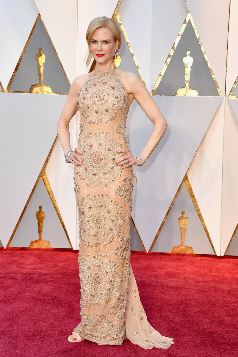 Nicole Kidman wears a custom @Armani Privé gown at the #Oscars. See mo...