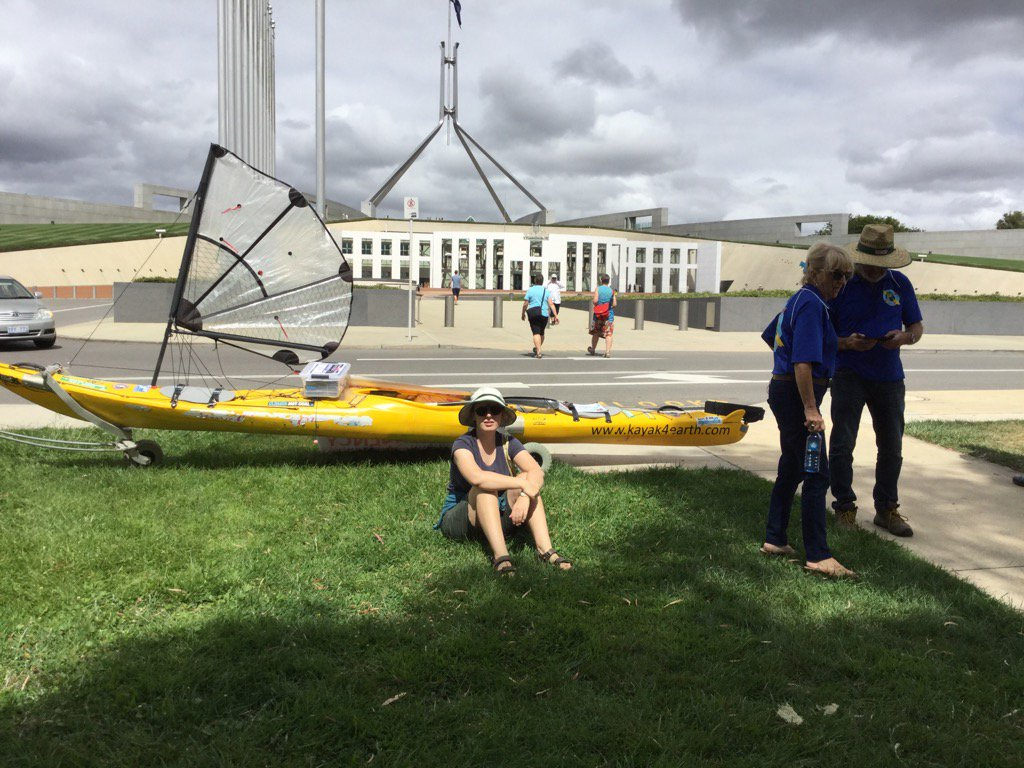 Steve Posselt has kayaked from Ballina to Canberra to deliver the Climate Emergency Petition #ClimateAction https://t.co/ATgunjKp8Z