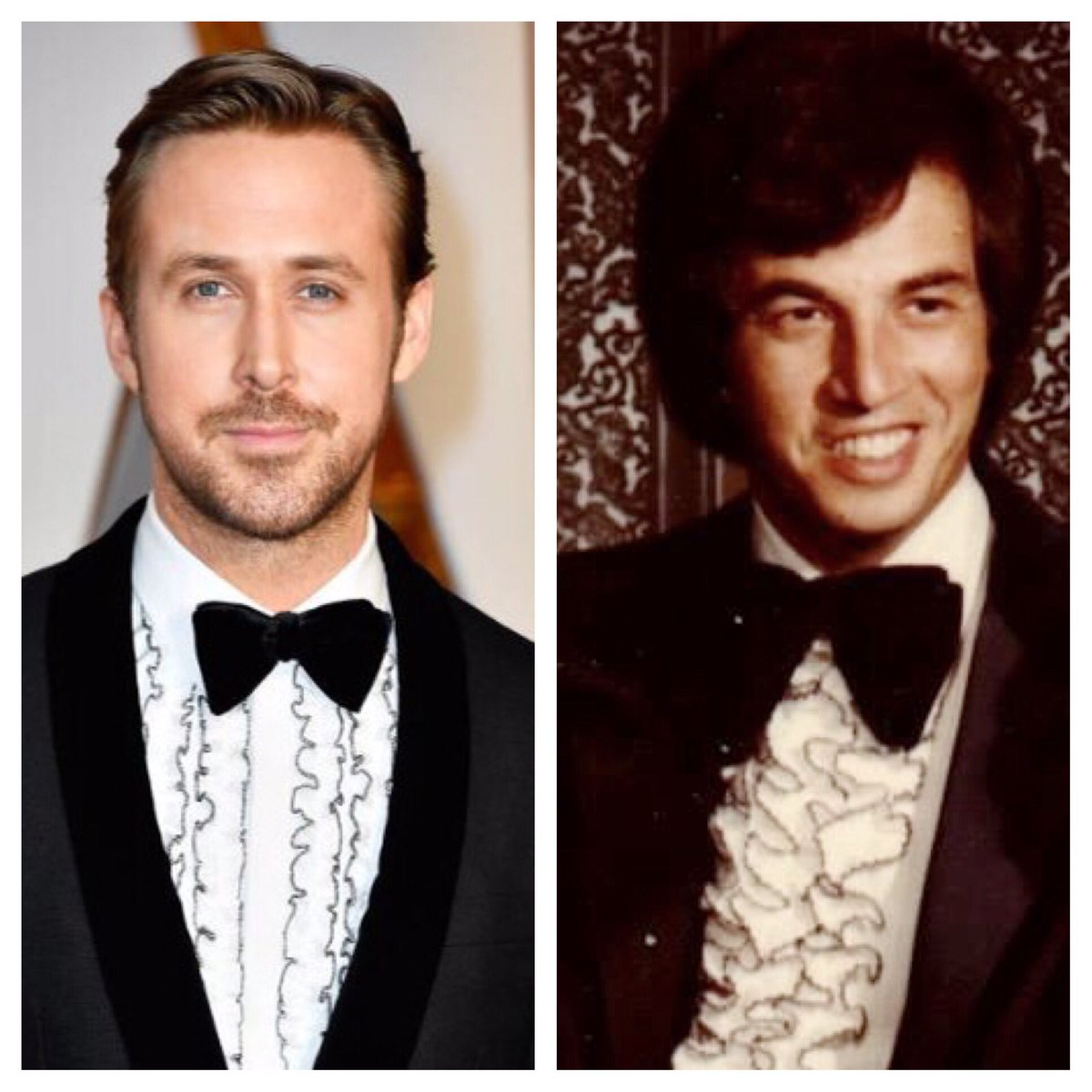 Who wore it better: Ryan Gosling or my dad, Norman, at my parents' 1975 wedding? #Oscars https://t.co/uYJfl2lloD