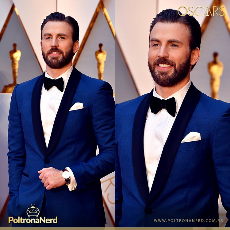 Chris Evans, o Capitão América, no #RedCarpet do #Oscars #Oscars2017 h...