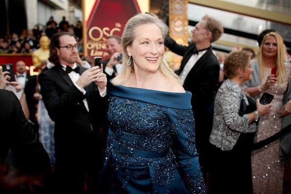 Maryl Streep no tapete vermelho (Oscar 2017)